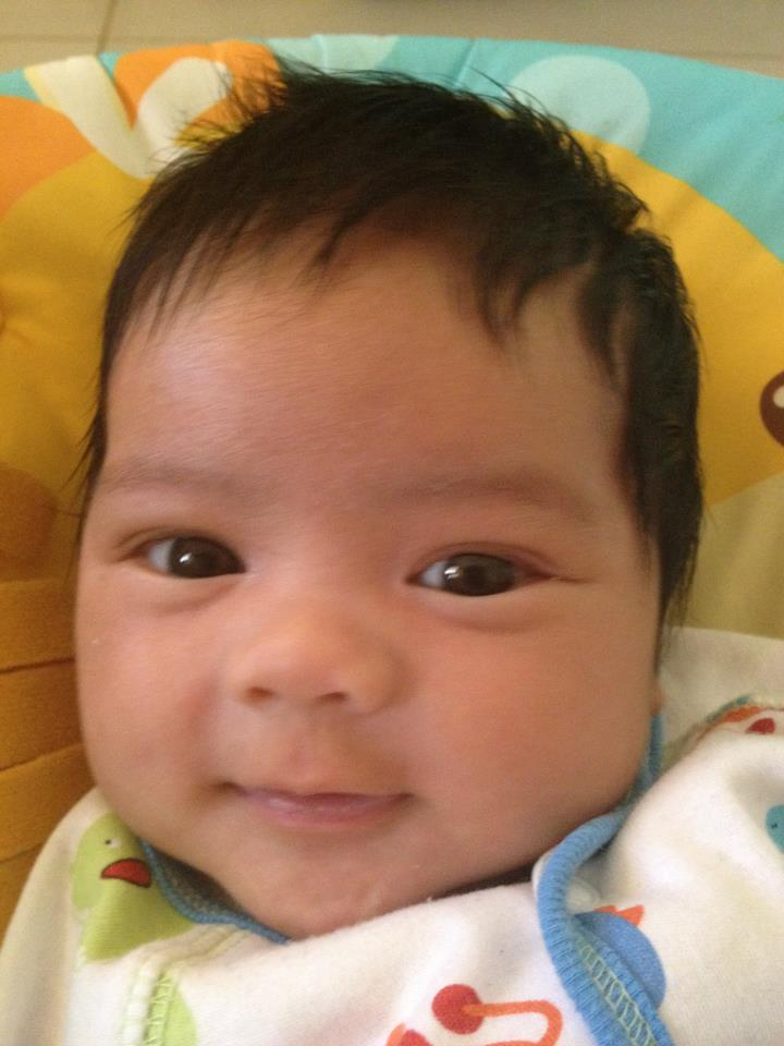Nicholas Smiling Seven Weeks Old